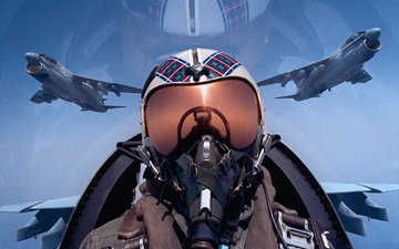 pilot, istrebitel, nebo