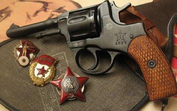 nagan, orden krasnoj zvezdy, gvardejskij, revolver