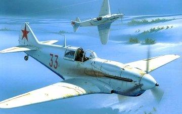 the plane, istrebitel, lavochkin gorbunov, risunok