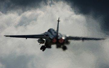 the plane, aviaciya, vzlet