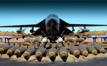 oruzhie, bombardirovshhik, samolyot, f 111, bomby