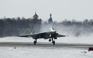 the plane, fighter, pak fa, t-50, dry, vvs rf