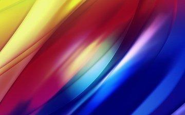 полосы, свет, абстракция, линии, волны, цвет, свечение, радуга, изгибы, переливы