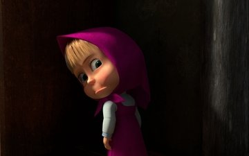 cartoon, masha and the bear