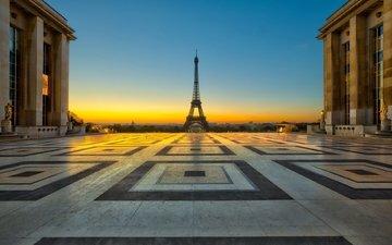 париж, франция, площадь, эйфелева башня