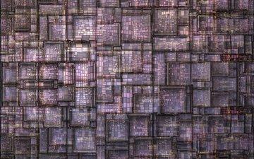 текстура, фон, цвет, квадраты, решетка, сиреневый, геометрия
