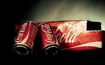 напитки, кока-кола, банки, упаковка