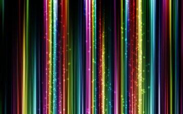 полосы, абстракция, разноцветные, свечение