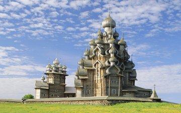 россия, памятник, карелия, кижи, церковь преображения господня, православный храм