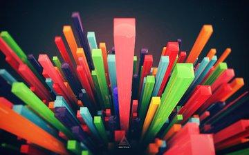 абстракция, фон, формы, разноцветные, цвет, 3д, цифровое искусство, дизайн твоей жизни