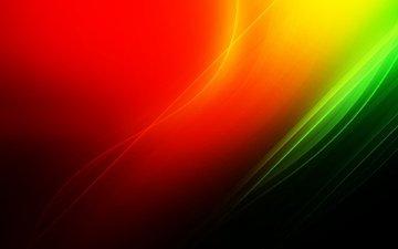 полосы, желтый, абстракция, линии, зелёный, фон, цвет, черный, красный, оранжевый