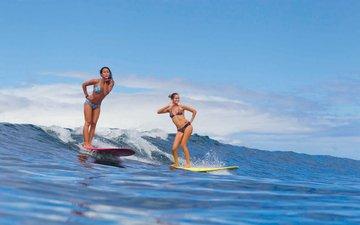 girls, surfing, tropics, the maldives