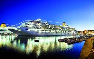 порт, лайнер, круизное судно, коста конкордия, пятизвездочный