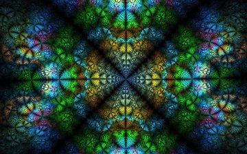 желтый, текстура, зелёный, фон, синий, фракталы, розовый, симметрия