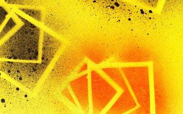 полосы, абстракция, цвет, брызги, графика, фигуры, квадраты, геометрия, пятна. брызги