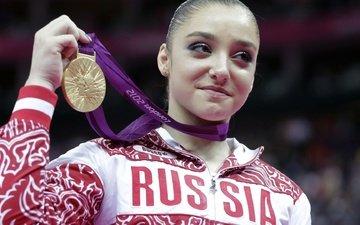 девушка, спорт, золотая медаль, олимпийская чемпионка, гимнастика, алия мустафина