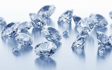 камни, блеск, бриллианты, ювелирные изделия, драгоценные