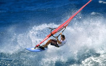 board, wave, the ocean, sport, splash, sail, windsurfing