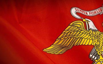 желтый, красный, орел, флаг