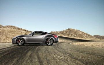 дорога, машина, пустыня, асфальт, порше