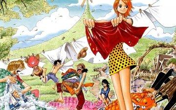 аниме, one piece, luffy
