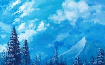 лез, иерогрифы, gory, sneg, snezhinki, vostok, рисоунок