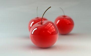 background, white, cherry