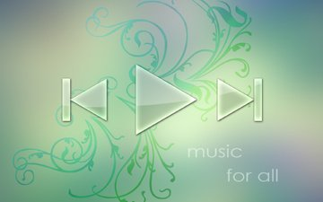 muzyka, zelenyj, pleer, simvol, треуголдьник