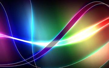 полосы, линии, узор, цвет, свечение, радуга, fon, cveta, linii