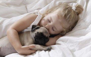 собака, девочка, любовь, детство, devochka, lyubov, sobaka
