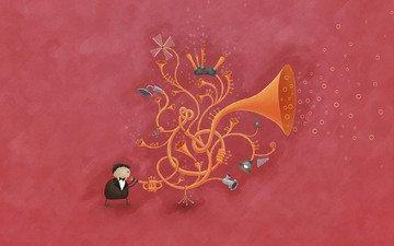 владстудио, muzyka, truba, puzyrki