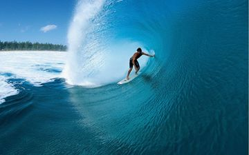 wave, surfing