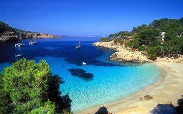 пляж, яхты, тропики
