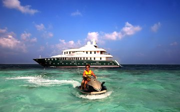 яхта, тропики, мальдивы