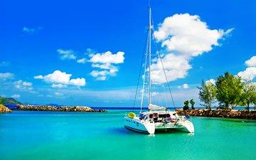 яхта, тропики