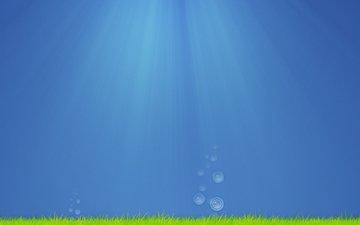 арт, trava, voda, kreativ, okean, minimalizm, vodorosli