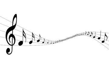 muzyka, noty, klyuch
