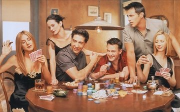 "poker, table, actors, friends, the series, ""friends"""