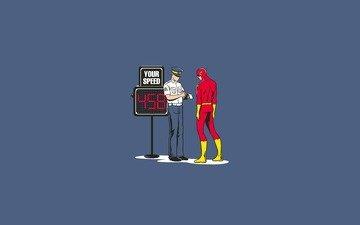 супер, personazh, komiks, yumor, policejskij