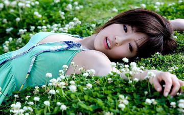 природа, девушка, модель, азиатка