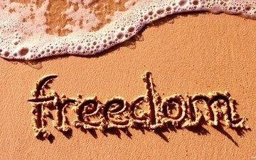 свобода, еще, pesok, nadpis, svoboda, pena