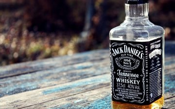 bottle, whiskey, stol, alkogol, jack daniels