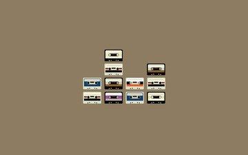 ретро, kreativ, minimalizm, kassety