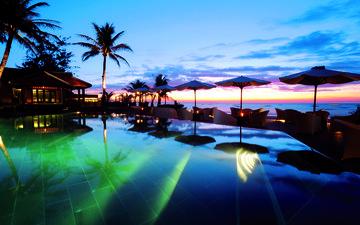 закат, море, тропики