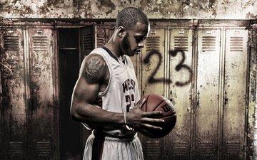 взгляд, игра, лицо, спорт, мужчина, спортсмен, татуировка, мяч, номер, баскетбол, баскетболист, мышцы, terrance hall