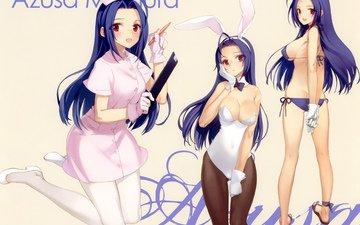 девушка, idolmaster, miura azusa
