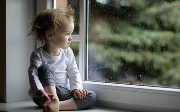 nastroenie, okno, малчик