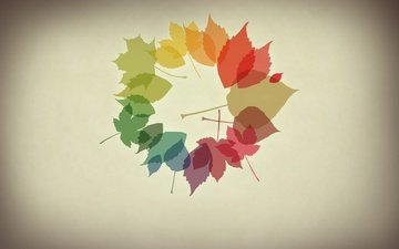 oboi, listya, osen, minimalizm, osennie oboi
