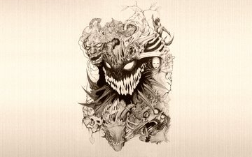demon, smert, uzhas, chert