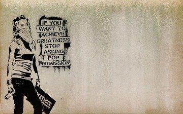 girl, graffiti, maska, povyazka, mnenie, soprotivle